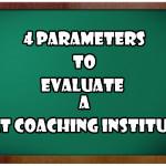 4 Parameters to evaluate a CAT Coaching Institute